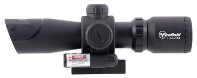 Firefield FF13062 Barrage with Picatinny Mount/Red Laser 1.5-5x 32mm Obj 42-14.7 ft @ 100 yds FOV  Tube Black Matte Illuminated Mil-Dot Red/Green