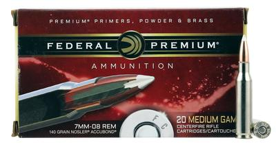 Federal P708A1 Vital-Shok 7mm-08 Remington 140 GR Nosler AccuBond 20 Bx/ 10 Cs
