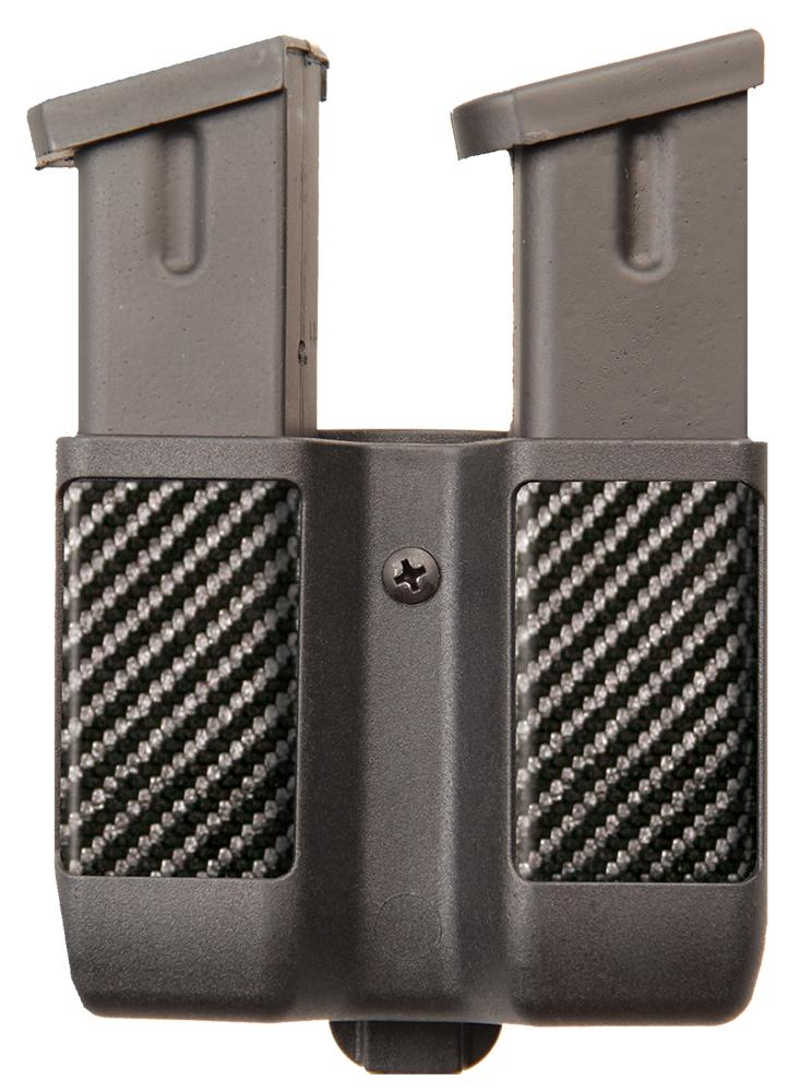 Blackhawk 410610cbk Double Mag Pouch Adjustable Carbon Fiber Black
