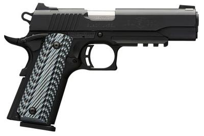 Browning 051907492 1911-380 Black Label Pro with Rail SAO 380 Automatic Colt Pistol (ACP) 4.25
