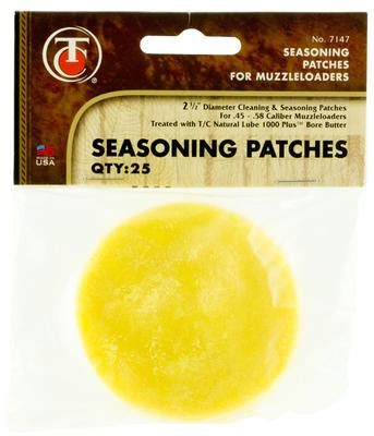 T/C Accessories 31007147 Seasoning Patches Natural Lube Pre-Treated Patches 2.5