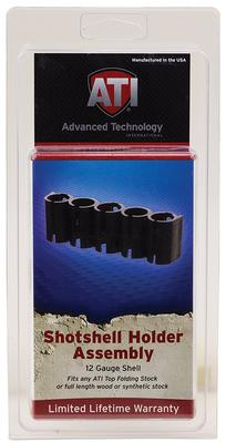 Advanced Technology SHOO500 Shotforce Shell Holder Black Polymer Holds 5 Shotshells