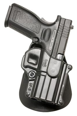 Fobus SP11RP Roto Paddle Holster  Springfield XD HS 2000 9/40/357 Plastic Black