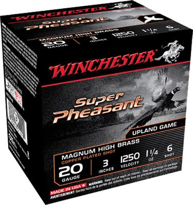 Winchester Ammo X203PH6 Super Pheasant Plated HV 20 Gauge 3