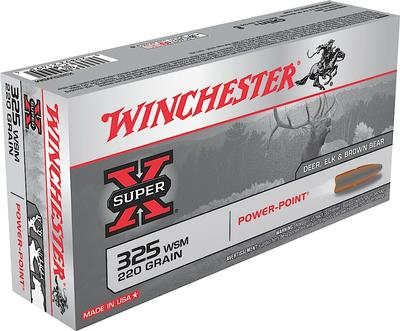 Winchester Ammo X325WSM Super-X 325 Winchester Short Magnum 220 GR Power-Point 20 Bx/ 10 Cs
