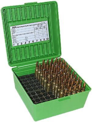 MTM R100MAG10 Rifle Ammo Deluxe R-100 Magnum 100 rd Polypropylene Green