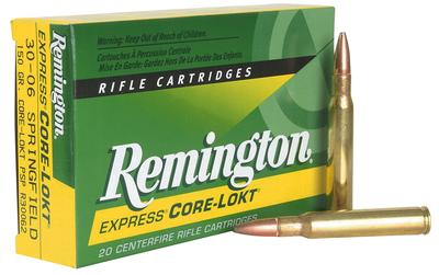 Rem Ammo R300WSM1 Core-Lokt 300 Win Short Mag PSP 150 GR 20Box/10Case