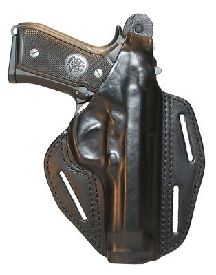 Blackhawk 420019BNR Pancake 3-Slot  S&W M&P 9/40 Compact Leather Brown
