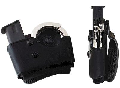 Galco MCP26B Cop Mag/Cuff Paddle Carrier 45/10mm Single Column Leather Blk