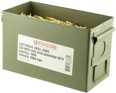 Fiocchi 223SS109GD Canned Heat 223 Remington/5.56 NATO 62 GR Full Metal Jacket 1000 Bx/  Cs