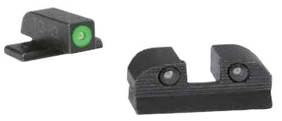 Sig Sauer Electro-Optics SOX10005 Xray3 #6 Green Front #6 Rear Square Notch Sig Sauer Tritium/Paint Green w/Green Outline Tritium/Paint Green w/Black Outline Black