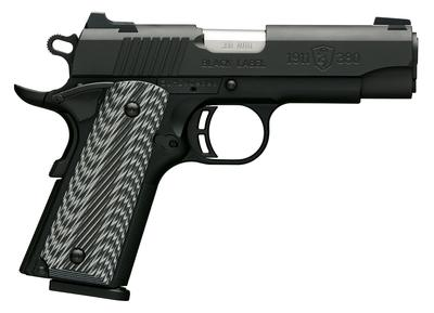 Browning 051910492 1911-380 Black Label Pro Compact Single 380 Automatic Colt Pistol (ACP) 3.625