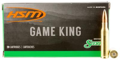 HSM 7MM089N Game King 7mm-08 Remington 160 GR SBT 20 Bx/ 25 Cs