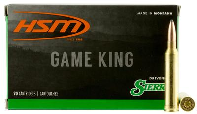 HSM 7MMMAG6N Game King 7mm Remington Magnum 160 GR Spitzer Boat Tail 20 Bx/ 20 Cs