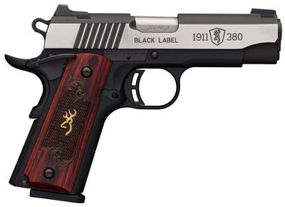 Browning 051915492 1911-380 Black Label Medallion Pro Compact Single 380 Automatic Colt Pistol (ACP) 3.625