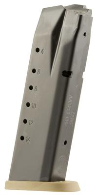 Smith & Wesson 3007346 S&W M&P 40 Smith & Wesson (S&W) 15 rd Steel Black Body/FDE Base