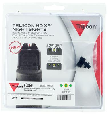 Trijicon 600860 HD Night Sights Sig 40 S&W and 45 ACP Yellow