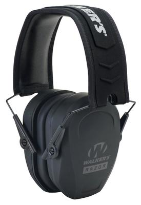 Walkers Game Ear GWPRSMPAS Razor Slim Passive Earmuff 27 dB Black