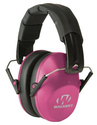 Walkers Game Ear GWPFPM1PNK Pro Low Profile Folding Muff Earmuff 22 dB Pink