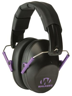 Walkers Game Ear GWPFPM1BKPU Pro Low Profile Folding Muff Earmuff 22 dB Black/Purple