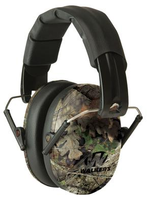 Walkers Game Ear GWPFPM1CMO Pro Low Profile Folding Muff Earmuff 22 dB Mossy Oak