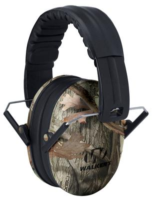 Walkers Game Ear GWPFKDMCAMO Passive Baby & Kid Folding Earmuff  Camo
