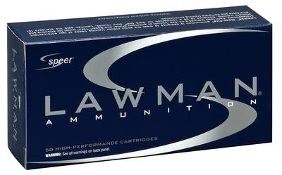 Speer Ammo 53880 Lawman 40 Smith & Wesson 180 GR Total Metal Jacket 50 Bx/ 20 Cs