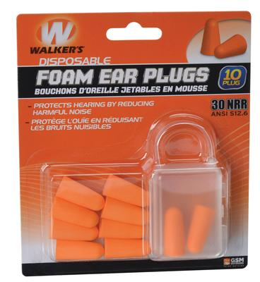 Walkers Game Ear GWPFP5PK Foam Ear Plugs 5 Pair 30 dB Orange