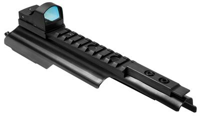 NCStar DMAKGA AK Cover with Green Dot 1x 23.5x16.8mm Obj Unlimited Eye Relief 2 MOA Black Hard Coat Anodized