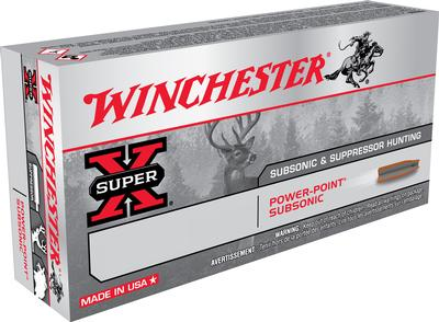 Winchester Ammo X308SUBX Super-X 308 Win/7.62 NATO 185 GR Hollow Point SubSonic 20 Bx/ 10 Cs