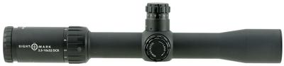Sightmark SM13074DCR Core 3-12x 44mm Obj 36.7-9.2 ft @ 100 yds FOV 30mm Tube Black Matte Dual Caliber Reticle (DCR)