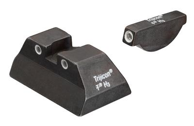 Trijicon 600307 Bright & Tough Night Sights Ruger P90/P91 Tritium Green w/White Outline Black