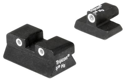 Trijicon 600132 Bright & Tough Night Sights Browning Hi-Point Tritium Green w/White Outline Black