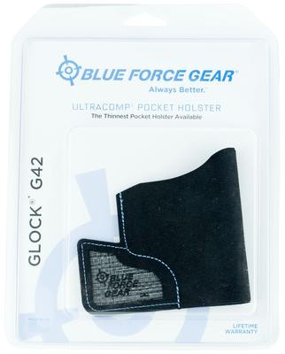Blue Force Gear MHOLSTERG420 Ultracomp Pocket  Glock 42 High-Performance Laminate Black