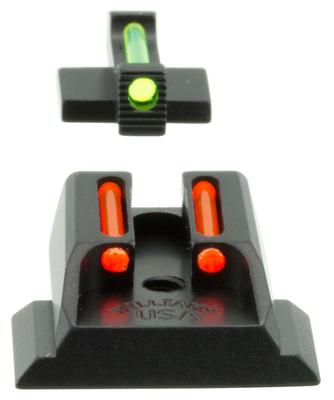 Williams 70972 FireSight Pistol S&W M&P Shield Aluminum Green Aluminum Red Black