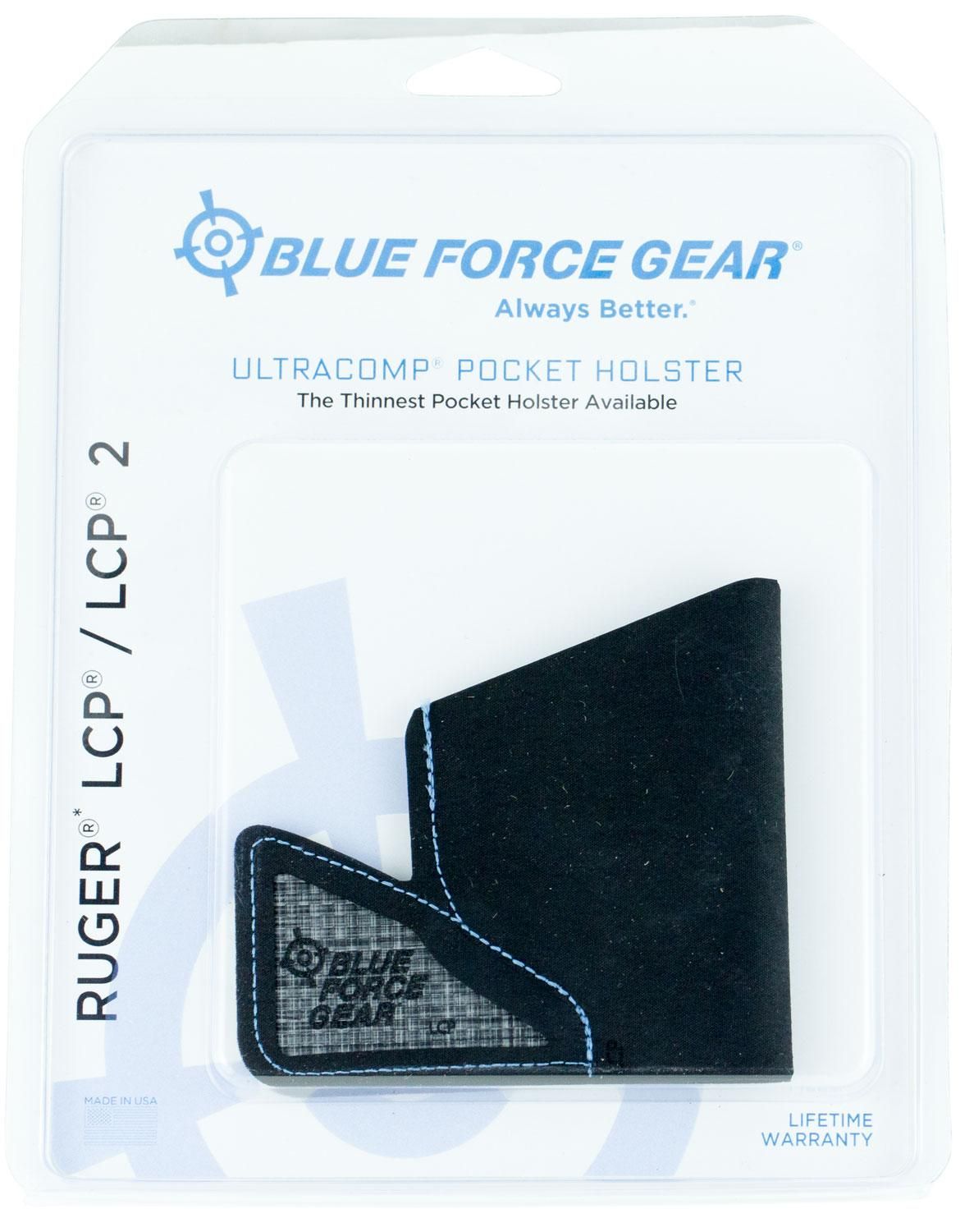 Blue Force Gear Mholsterlcp0 Ultracomp Pocket Ruger Lcp/Lcp Ii High- Performance Laminate Black