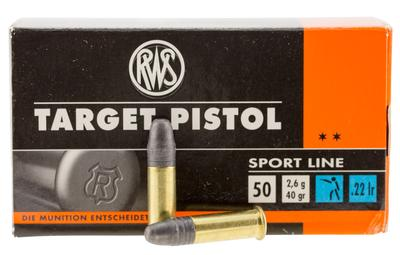 Walther Arms 2132710 22 Long Rifle 40 GR Lead Round Nose 50 Bx/ 1 Cs