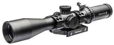 Truglo TG8541TLR Eminus 4-16x 44mm Obj 23.74-5.94 ft @ 100 yds FOV 30mm Tube Black Hardcoat Anodized Illuminated TacPlex