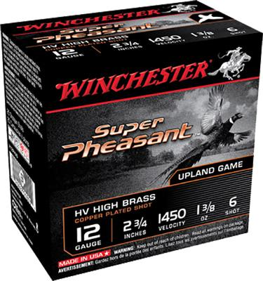 Winchester Ammo X12PHV6 Super Pheasant Plated HV 12 Gauge 2.75