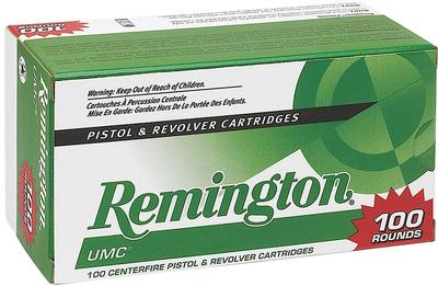 Remington Ammunition L38S2B UMC 38 Special JHP 125 GR 100Box/6Case