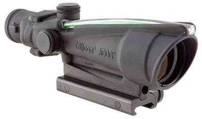 Trijicon 100416 ACOG 3.5x 35mm Obj 28.9 ft @ 100 yds FOV Black Matte Dual Illuminated Crosshair 300 Blk Ballistic Green