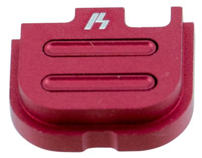 Strike SIGSPG42V2RE Glock 42 V2 Slide Cover Plate Aluminum Red