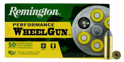 Remington Ammunition RPW45C Performance WheelGun 45 Automatic Colt Pistol (ACP) 250 GR Lead Round Nose 50 Bx/ 10 Cs