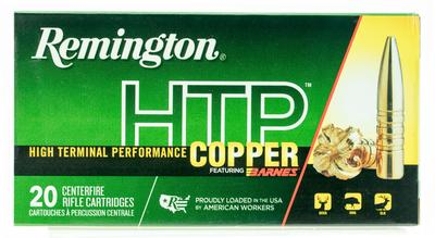 Remington Ammunition HTP308W HTP Copper 308 Winchester/7.62 NATO 168 GR TSX 20 Bx/ 10 Cs