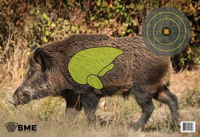 SME SMETRGHOG Feral Hog Vital Point Target 3 Pack 16.5