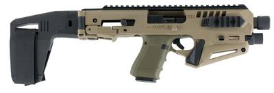 Command Arms MICRONISTAB19 Micro Roni Stabilizer for Glock 19/23/32 Gen 3/4 Aluminum/Polymer Flat Dark Earth