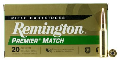 Remington Ammunition RM65CR Premier 6.5 Creedmoor 140 GR Open Tip Match Boat Tail 20 Bx/ 10 Cs