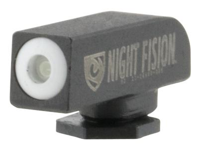 Night Fision GLK00101WGXX Night Sight Front Square Top All Glock Green Tritium w/White Outline Black