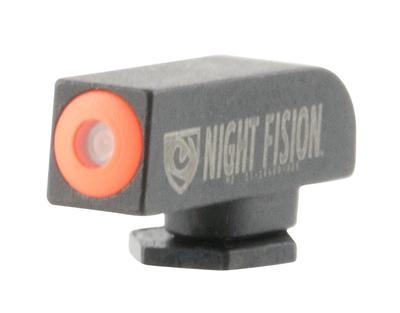 Night Fision GLK00101OGXX Night Sight Front Square Top All Glock Green Tritium w/Orange Outline Black