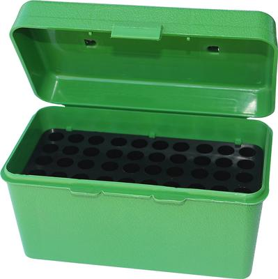 MTM H50RS10 H-50 50rd Sm Rifle Ammo Box w Handle Poly Green